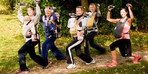 Reaktiv Kanga Walking Sport mit Baby Outdoor