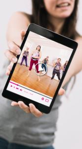 Kursbild auf Tablet Sport für Mütter Online